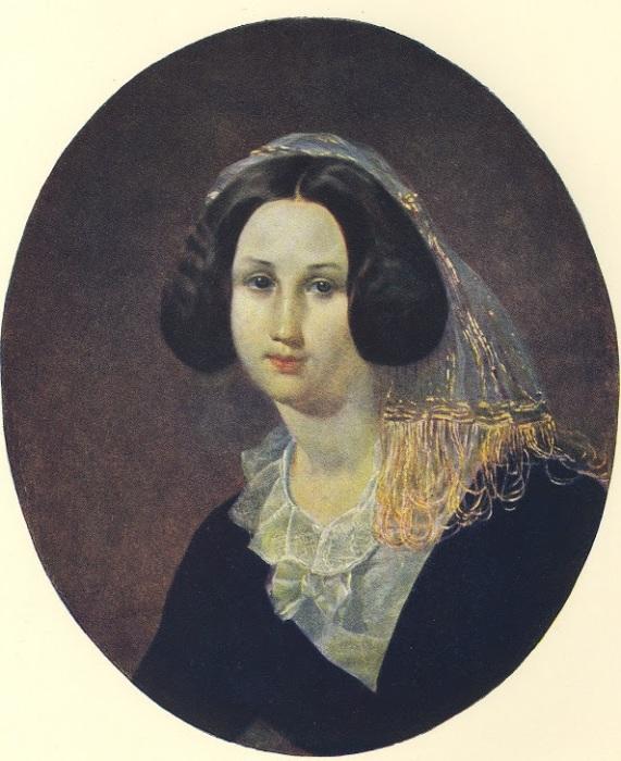 Екатерина Кейкаутова. (1847) Автор: Т.Шевченко.