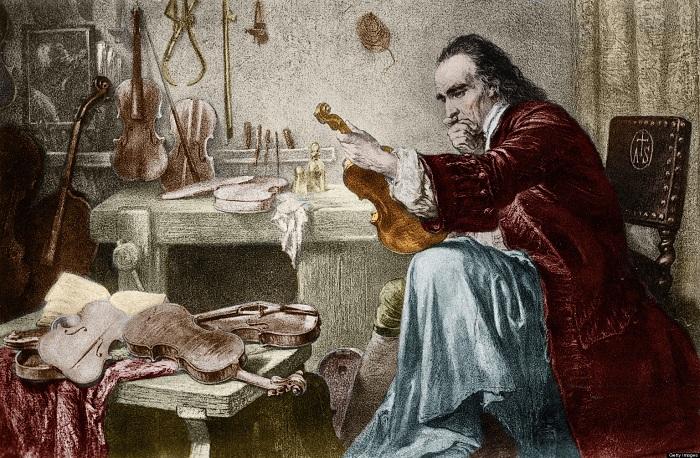 Страдивари пробует инструмент, XIX век. | Фото: diletant.media.